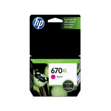 Cartucho de tinta HP 670XL...