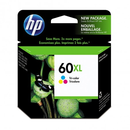 Cartucho de tinta HP 60XL Tricolor Original (CC644WL)