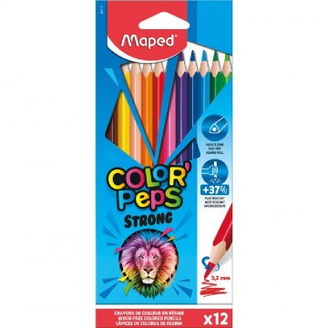 COLORES X12 STRONG PEPS MAPED